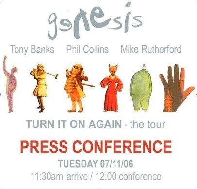 מסיבת העיתונאים של ג'נסיס - לונדון, 7 נובמבר